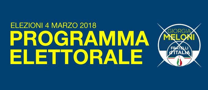 Programma Fratelli d'Italia